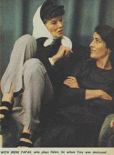 """""""Katharine Hepburn in The Australian Women's Weekly for The Trojan Women """" Golden Age Of Hollywood, Vintage Hollywood, Classic Hollywood, Irene Papas, I Look To You, Uma Thurman, Katharine Hepburn, She Movie, Classic Actresses"""