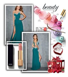 """""""One Shoulder Sleeveless Chiffon Prom Dress"""" by johnnymuller ❤ liked on Polyvore featuring Chanel"""