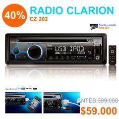 """Excelente Radio #CLARION modelo CZ202, ha sido una de las más vendidas durante este 2014. Precio incluye instalación. """"Producto recomendado y destacado"""" Miami Center."""