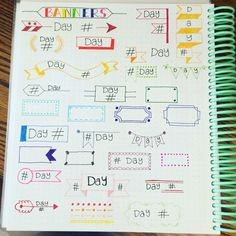 Bullet Journal Inspo, Bullet Journal Headers, Bullet Journal Banner, Bullet Journal Junkies, Journal Layout, My Journal, Pretty Notes, Sketch Notes, Lettering Styles