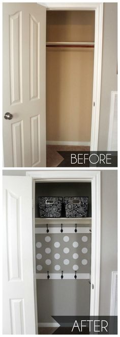 Closet Makeover - So easy and way more functional! { lilluna.com }