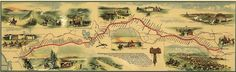 Pony express route April 1860 - October 1861 was a system of mail delivery horse and rider relays between St. Joseph, Missouri, and Sacramento, California, a distance of 1,800 miles that took 10 days. It was unprofitable and quickly replaced by the transcontinental telegraph system.