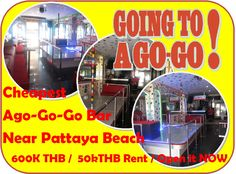 Pattaya Go-go Bar Rental: 50 m from Pattaya beach, Walking Street around the corner, massive foot traffic passing, can be  gay bar, lady boy bar or girl bar, all good for location, no extra investment, ready to be open, new fully equipped bar, Music and light installed, refrigerators on place, 4 floors, staff rooms plus apartments and kitchens upstairs, rent 50,000.00 THB, key money is 600,000.00 THB included first month rent plus 3 months deposit with the free use of the fully equipped…