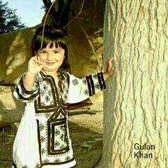 Awesome view wonderful cute Balochi baby with Balochi cultural dresses