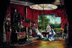 Mihály Munkácsy - Morning in the Holiday House