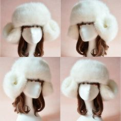 Faux Fur Russian Trapper Hat Ear Warm Beret Cap Earflap Hat