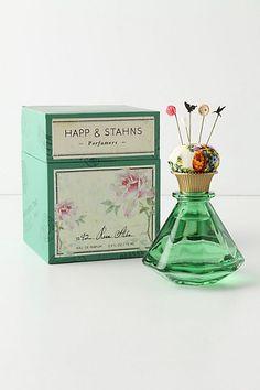 Happ & Stahns 1842 Rosa Alba Eau De Parfum.  Love the pincushion top and the Victorian-inspired pins.
