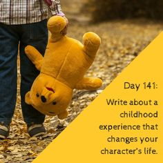 """Day 141 of 365 Days of Writing Prompts: Write about a childhood experience that changes your character's life. Erin: """"What's your secret?"""" I thought about what the interviewer was asking. Character Prompts, Daily Writing Prompts, Writing Prompts For Writers, Picture Writing Prompts, Creative Writing Prompts, Writing Challenge, Fiction Writing, Writing Advice, Writing Resources"""