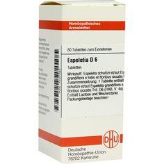 ESPELETIA D 6 Tabletten:   Packungsinhalt: 80 St Tabletten PZN: 07247293 Hersteller: DHU-Arzneimittel GmbH & Co. KG Preis: 5,95 EUR inkl.…