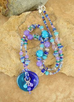 Boho Necklace Bohemian Jewelry Lampwork Glass by BohoStyleMe