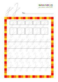 Písané písmenká pre začiatočníkov - séria pracovných listov - Nasedeticky.sk Indoor Activities For Kids, Handwriting Practice, Kindergarten, Education, Montessori, Logo, Calligraphy Practice, Logos, Indoor Kid Activities