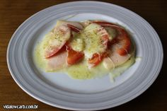 Simple Low carb recipes: pizza de queijo e presunto!