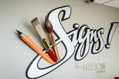 Signage Display, Signage Design, Painted Letters, Painted Signs, Typography Letters, Lettering, Channel Letter Signs, Signwriting, Reception Signs
