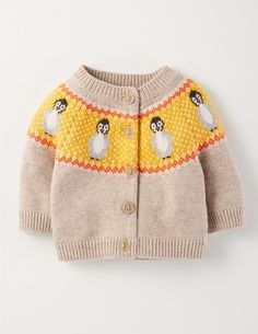2017 New Baby Girl Fall Penguin Knitting Cotton Sweaters Cardigan Knitted Jacket Kids Girls Fashion Clothing Outwear Baby Girl Sweaters, Knitted Baby Clothes, Cute Baby Clothes, Toddler Fashion, Kids Fashion, Baby Boy Outfits, Kids Outfits, Animal Sweater, Pull Bebe