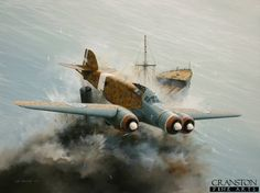 Scourge of the Mediterranean - Tribute to Capitano Carlo Emanuele Buscaglia by Ivan Berryman. The Savoia Marchetti SM.79s of the 281a Squadriglia were to become notorious for their daring attacks on allied shipping in the Mediterranean from their bases in Libya throughout 1940. Among the most celebrated of Italian pilots was Capitani Carlo Emanuele Buscaglia, seen here claiming another victim in his personal aircraft 281-5.
