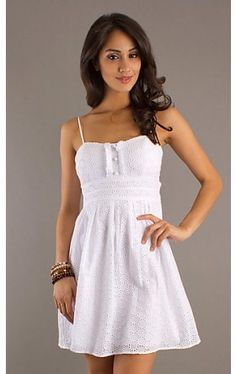 Short White Spaghetti Strap Dress CT-9295Y330