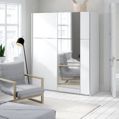 Free delivery over to most of UK ✓ Great Selection ✓ Excellent customer service ✓ Find everything for a beautiful home Buy Wardrobe, Corner Wardrobe, Ikea Wardrobe, Side Table With Storage, Wood Storage Bench, 3 Door Sliding Wardrobe, Hanging Rail, Gray Interior, Storage Spaces