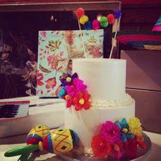 Alexandra Hansen: A Fiesta Themed Bridal Shower: Part 1 Mexican Fiesta Cake, Mexican Fiesta Birthday Party, Fiesta Theme Party, Mexican Party, Cookie Cake Birthday, Fiesta Baby Shower, Shower Cakes, Themed Cakes, Bridal Shower