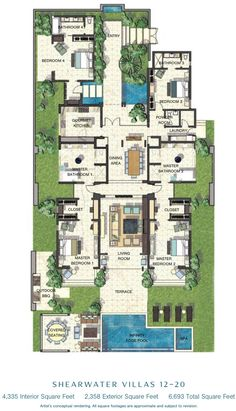 Caribbean Villa Floor Plans Google Search