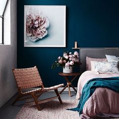 And yes while I do love the light airyness (don't think that's a word ) of grey interiors how banging is the mood here by @mooreconcepts for @barnaby_lane ... Need to exhale