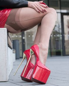 Extreme High Heels, High Heels Stilettos, Tgirls, Peep Toe, Platform, Shoes, Nylons, Fashion, Moda