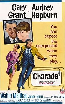 Charade- Cary Grant, Audrey Hepburn directed by Stanley Donen...not Hitchcock as I previously thought!