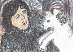 Jon Snow and Ghost (Game of Thrones)