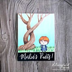 RBergfeld Card Designs: Merlin's Pants! - Kindred Stamps, Students of Magic