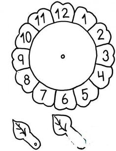 Clock craft idea for preschool kids Preschool Worksheets, Math Activities, Preschool Activities, Math For Kids, Crafts For Kids, Sunflower Coloring Pages, Clock Craft, Math Classroom, Kindergarten Math