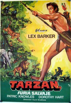 "tarzan pictures | "" MOVIE POSTER - ""TARZAN SAVAGE FURY"" MOVIE ..."
