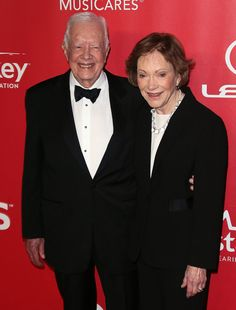 Former President Jimmy Carter and his wife, Rosalynn Carter at the 2015 MusiCares event.