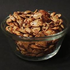 Roasted Tajin Pumpkin seeds: 1 tbsp Tajin and 1 cup of raw pumpkin seeds roasted at 325 for about 30 minutes