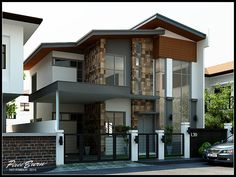 Modern Style Dream House Design - Design Architecture and Art Worldwide Dream Home Design, Modern House Design, Villa Design, Design Design, Design Ideas, Style At Home, Wooden Main Door Design, 2 Storey House Design, Modern Minimalist House