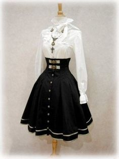 The Library for Lolita Fashion Cute Casual Outfits, Pretty Outfits, Pretty Dresses, Beautiful Dresses, Kawaii Fashion, Cute Fashion, Old Fashion Dresses, Fashion Outfits, Cosplay Outfits