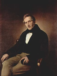Ritratto di Alessandro Manzoni da parte del pittore Francesco Hayez.
