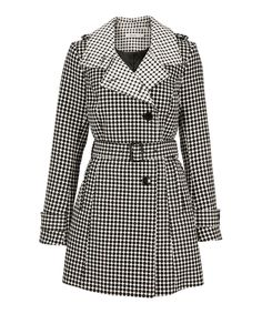Dot Pattern Trench Coat, Black/White Pattern Ricki's - I saw this when I walked past the store today, it looks even nicer 'in person'. But do I really need another coat?