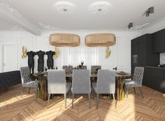 HOW STUNNING CAN A BLACK APARTMENT DESIGN BE?