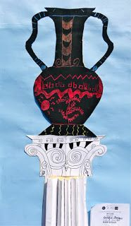 Blog-4-Students: Greek Vases. 2/1/13  Great combo lesson on ancient greek ceramics and columns.
