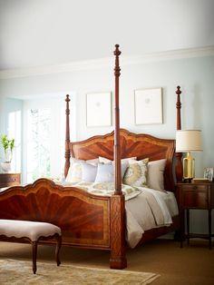 Jonathan Charles Veneered Mahogany 4 Poster Bed