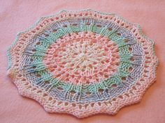 This is not really a full pattern but a way to use the Pi Shawl formula to make a dishcloth.