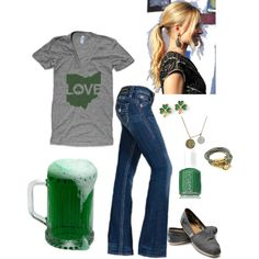 St. Patrick's day outfit - love this! Especially the shirt! Umm hello Irish!