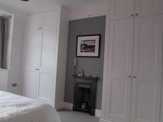 fitted wardrobes James Carpentry UK,Wandsworth //This is the built-in idea Alcove Wardrobe, Bedroom Alcove, Bedroom Built In Wardrobe, Fitted Bedroom Furniture, Fitted Bedrooms, Bedroom Storage, Home Bedroom, Master Bedroom, Fitted Bedroom Wardrobes