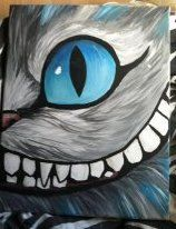 "for my bedroom.... Cheshire Cat Painting 11x14"" Reserved. $30.00, via Etsy."