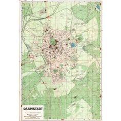 HI-Res map of Darmstadt - 1920