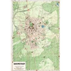 HI-Res map of Darmstadt - 1920