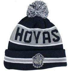 6b730f7f16b34 Georgetown Hoyas New Era The Coach Pom Knit Beanie