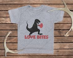 Love Bites Boy's Valentine's Day Shirt SVG Cut File Set