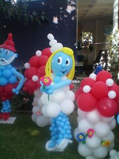 smurfette by Balloons Dream Smurfs  Balloons  Kids Birthday  Fun Birthday Décor  Birthday ideas