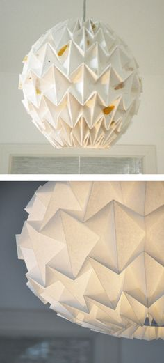 Another origami lampshade