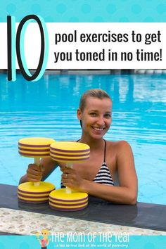 Try this total body pool workout to get fit and firm with low-impact and very effective exercises! Need to tone up, but rough workouts too hard on your body? Try this total body pool workout to get fit with these low-impact, calorie-blasting exercises! Water Aerobic Exercises, Swimming Pool Exercises, Water Workouts, Fitness Exercises, Pool Noodle Exercises, Workout Exercises, Bike Workouts, Chair Exercises, Swimming Tips